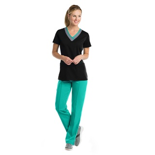 3 Pocket Color Block V-Neck