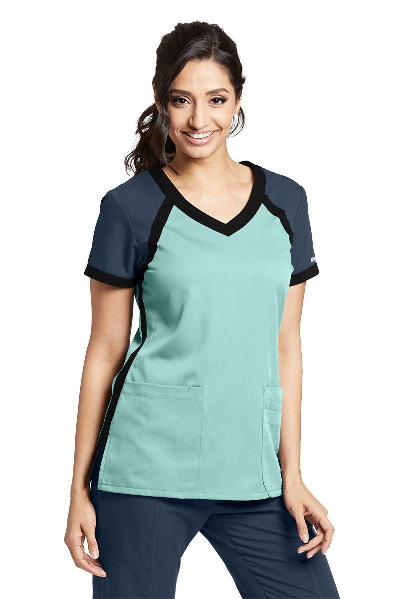 Active Modern Fit 3 Pocket Color Block Top - Grey's Anatomy 41453-Greys Anatomy Active