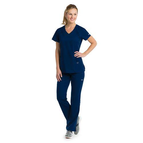 Grey's Anatomy Scrubs Active Inset V-Neck Knit Top-Greys Anatomy Active