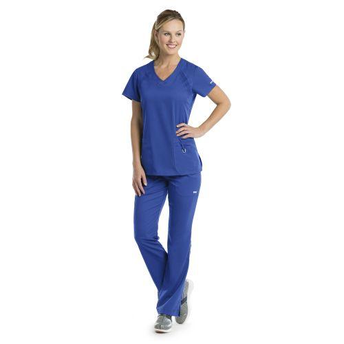 3pkt V-Nk Knit Raglan Inset-Greys Anatomy Active