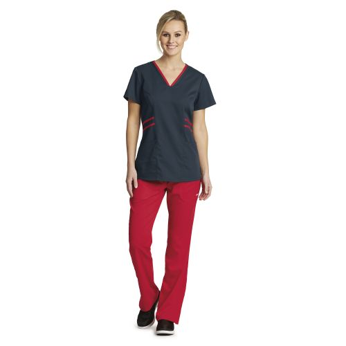 3 Pocket Stylized Contrast V -Nk-Greys Anatomy Active