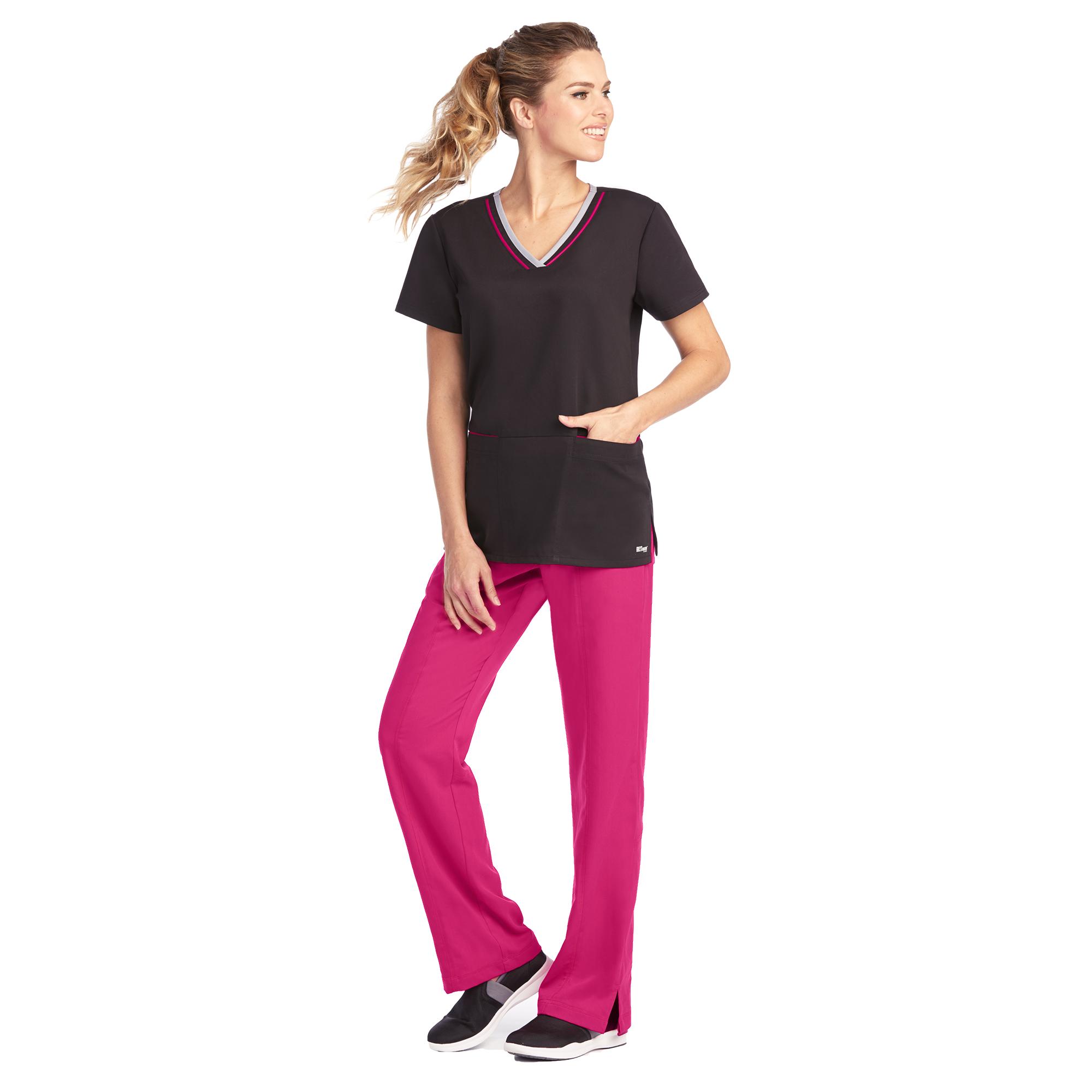 1ed9e8e84e5 Grey's Anatomy Active Women's Color Block V-Neck Scrub Top