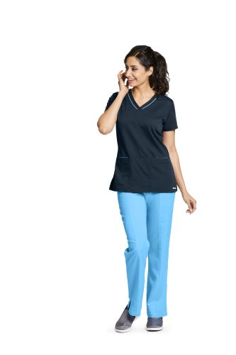 Active 3 pocket Color Block V-Neck - 41466-Greys Anatomy Active