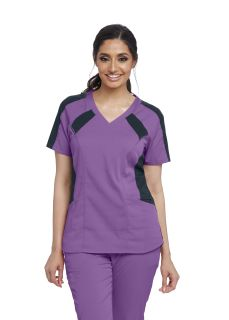 Active Stretch 3 Pocket Color Block Top-Greys Anatomy Active