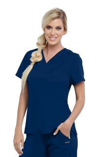 Active Stretchy V Neck Top by Grey's Anatomy-Greys Anatomy Active