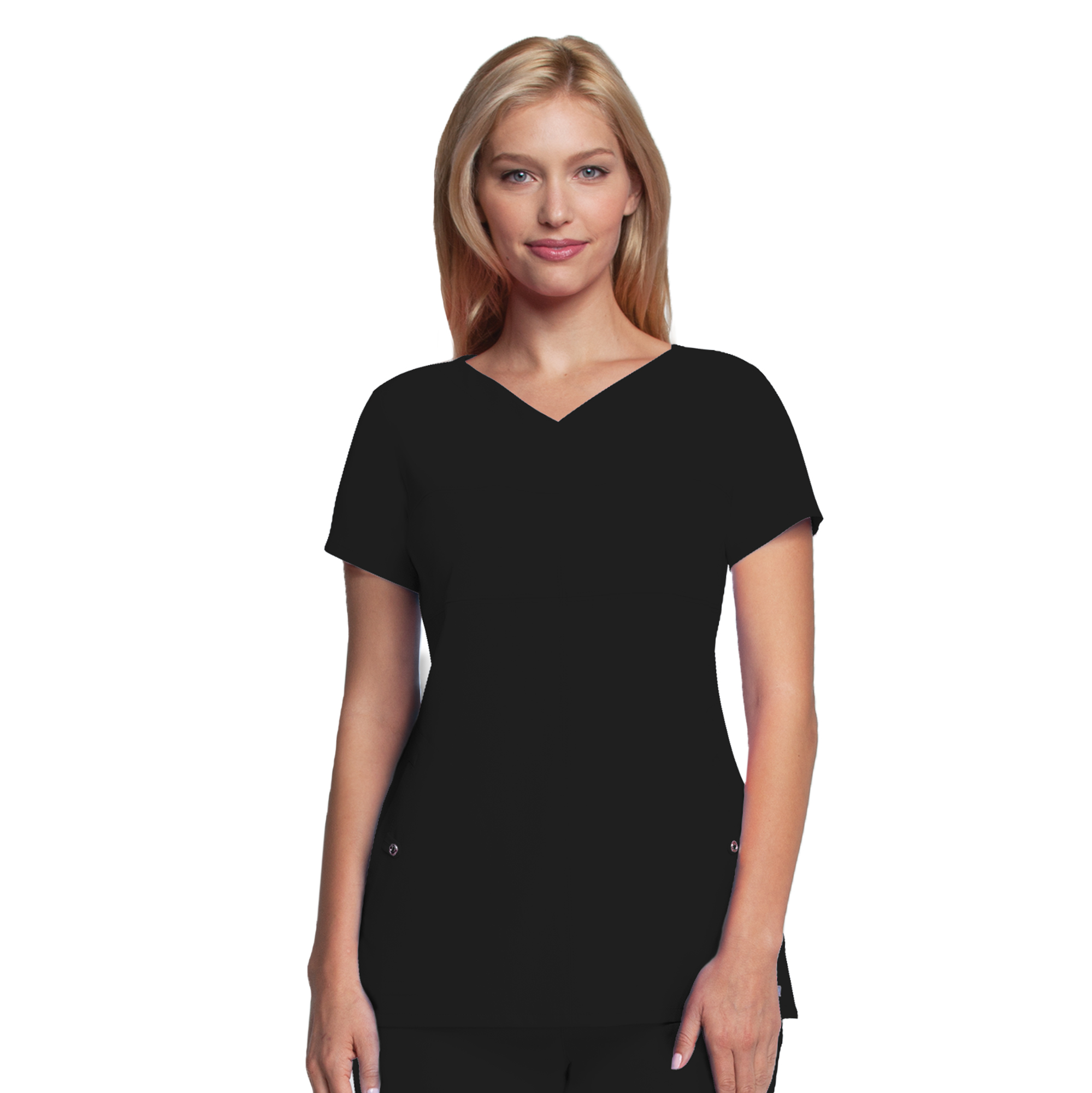 2 Pocket Soft V-Neck