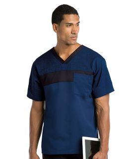 0117 Men's Printed V Neck by Grey's Active