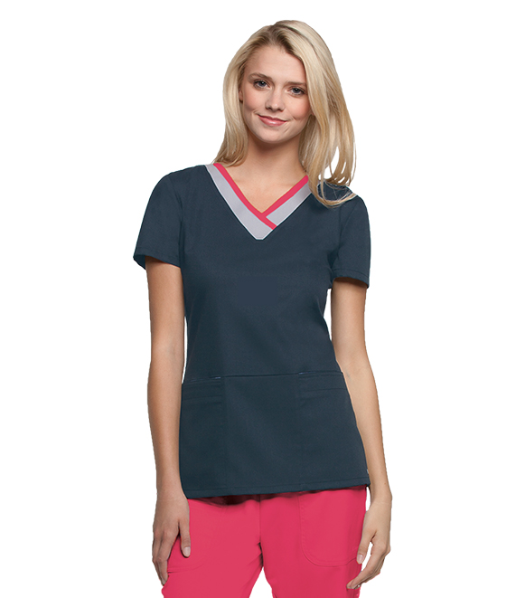Barco Grey's Anatomy Active Women's Color Block V-Neck Top