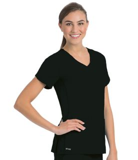 4pkt Solid Side Panel V-Neck