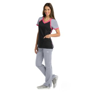 Grey's Active 3 Pocket Raglan V-Neck Scrub Top