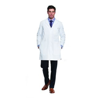 "Mens 37"" 6 Pocket Side Access Lab Coat W/ Tablet Pockets"