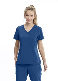 Motion NEW 2 Pocket Mock Wrap Top by Grey's Anatomy MOT005-Motion By Barco
