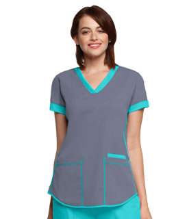 3159 3 Pocket Squared V-Neck