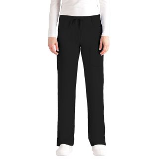 Junior 4 Pocket Tie Front Straight Leg Pant