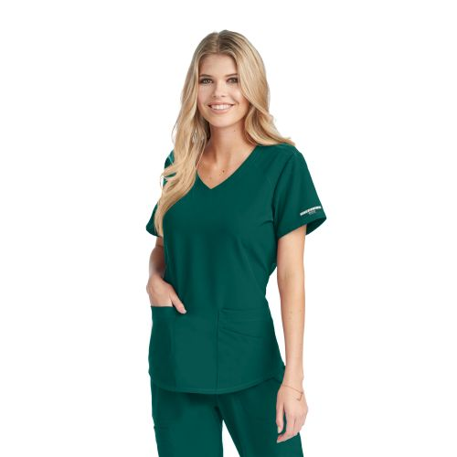 SK101 Skechers Vitality V Neck Scrub Top-Skechers