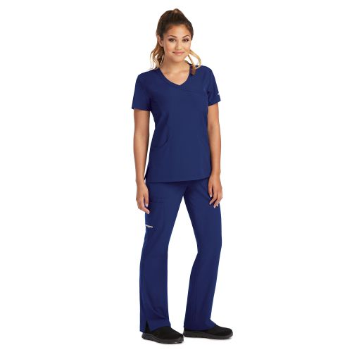 SK102 Skechers Ladies Reliance Mock Wrap Scrub Top-Skechers