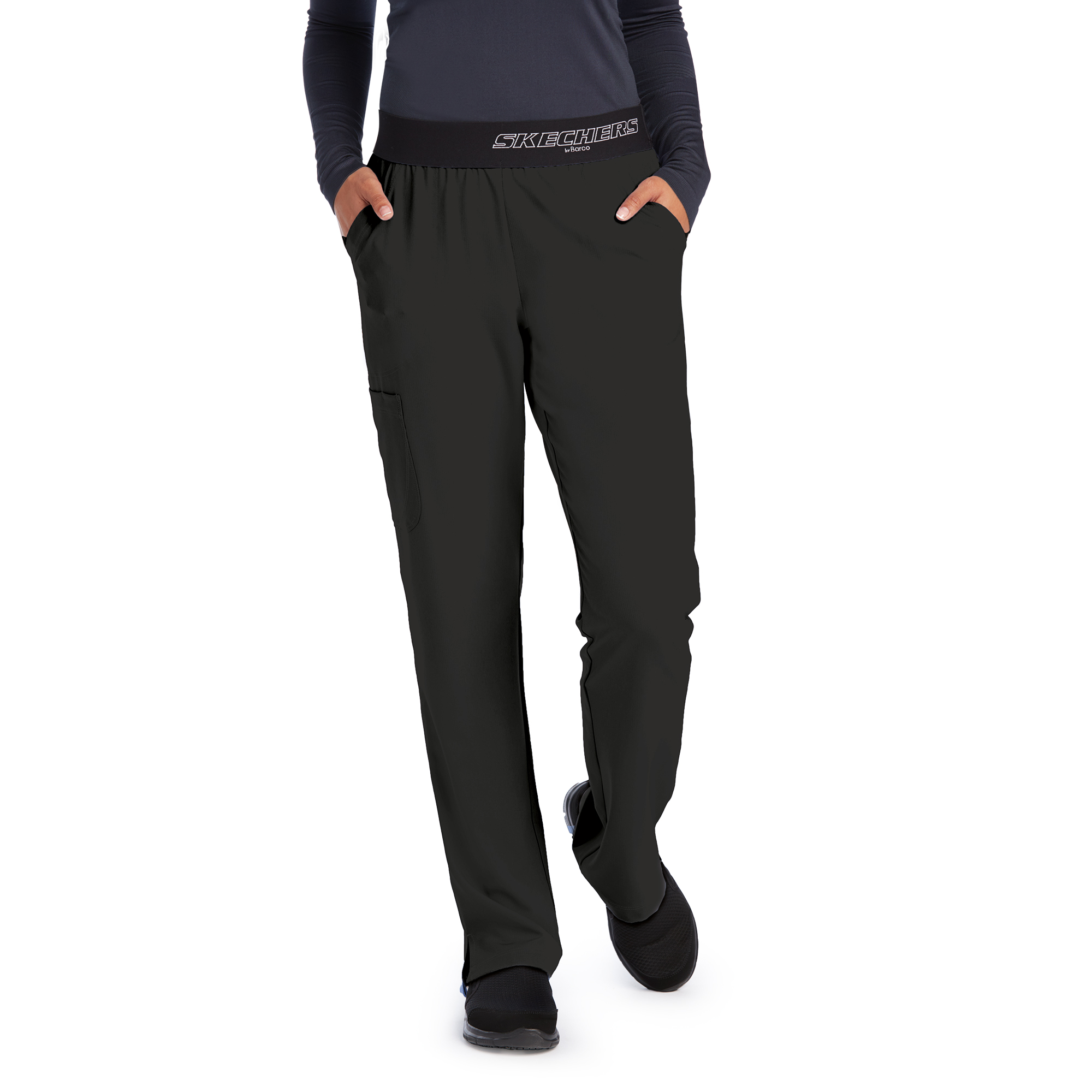 Skechers Women's 3 Pocket Logo Elastic Pant-Barco Skechers