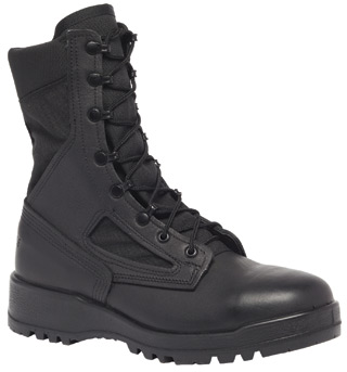 Hot Weather Black Safety Toe Boot-Belleville Shoe