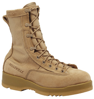 Hot Weather Tan Safety Toe Flight Boot-Belleville Shoe