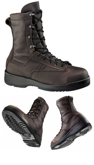 Waterproof Chocolate Brown Safety Toe Flight Boot-Belleville Shoe