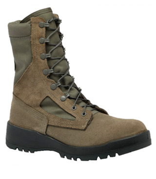Hot Weather Sage Green Safety Toe Boot - USAF-Belleville Shoe