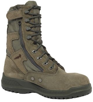 Hot Weather Tactical Side Zipper Safety Toe Boot - USAF-
