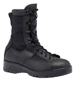 Waterproof Insulated Black Combat & Flight Boot