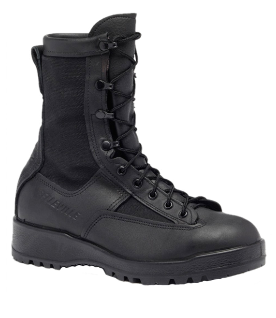 Waterproof Insulated Black Combat & Flight Boot-Belleville Shoe