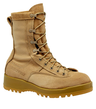 Waterproof Tan Combat & Flight Boot-Belleville Shoe