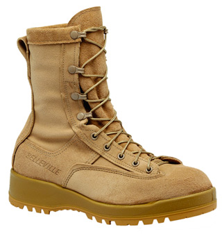 Waterproof Insulated Tan Combat Boot-