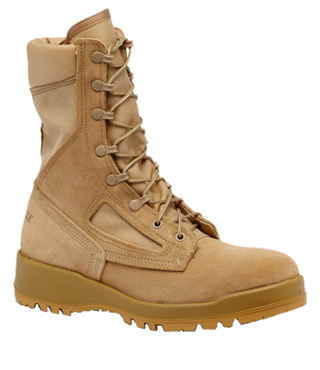 Women's Hot Weather Tan Combat Boot-Belleville Shoe