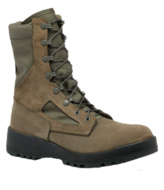 Women's Waterproof Sage Green Safety Toe Boot - USAF-Belleville Shoe