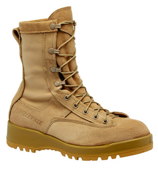 Women's Waterproof Tan Combat & Flight Boot-Belleville Shoe