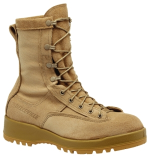 Women's Waterproof Insulated Tan Combat Boot