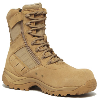 Hot Weather Lighweight Side-Zip Composite Toe Boot-Belleville Shoe