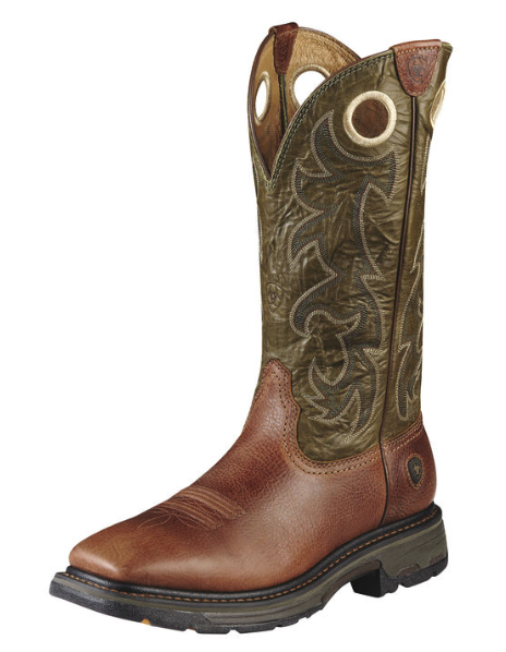 Ariat Workhog Wide Square Toe Tall Rust (Steel Toe)