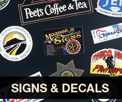 Shop Signs and Decals