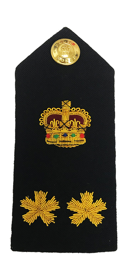 Crown & 2 Bullion Shoulder Board-Derks Uniforms