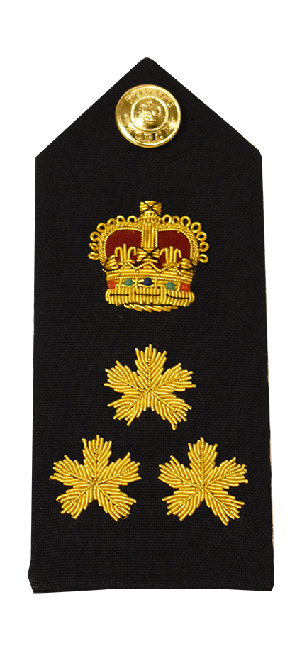 Crown & 3 Bullion Shoulder Board-Derks Uniforms