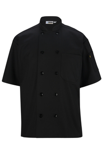 Unisex 10 Button Short Sleeve Chef Coat-Sawmill