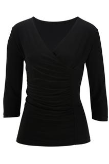 Women's 3/4 Sleeve Crossover Knit Top-Sawmill