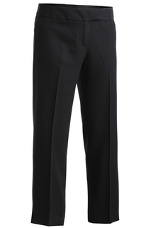 Women's Black Hospitality Flat Front Pant-