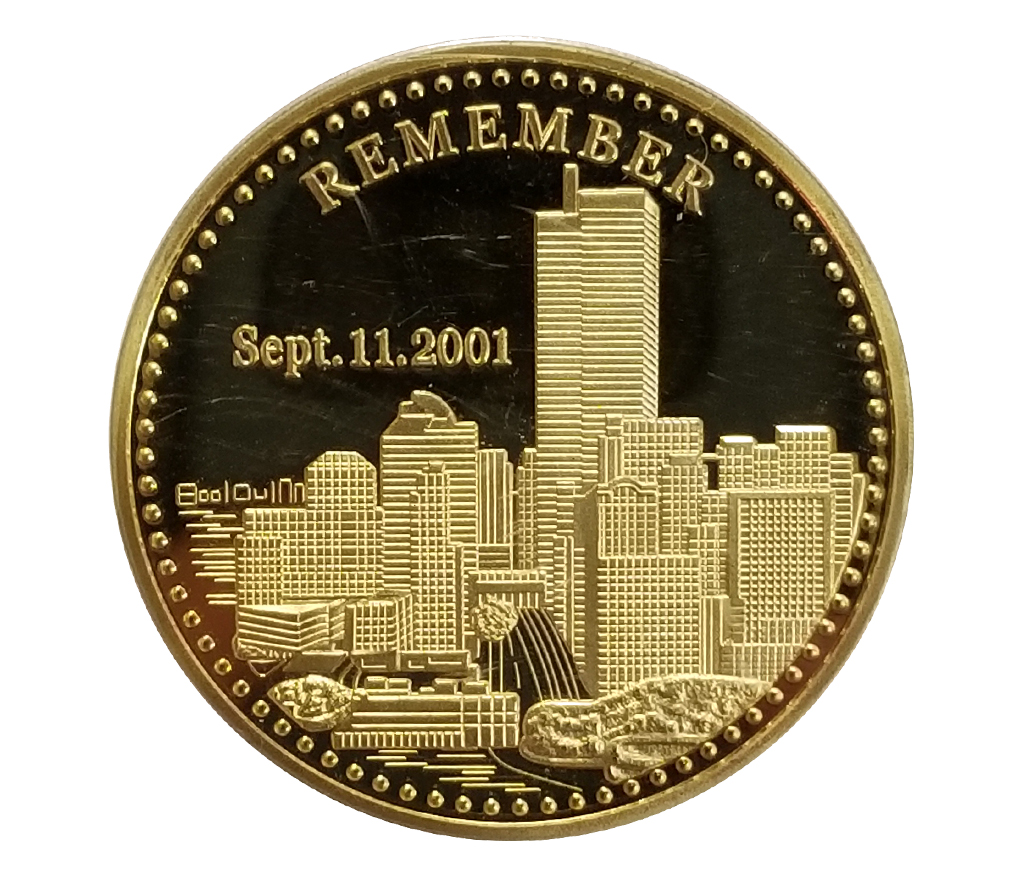 9/11 Freedom Gold Plated Coin-