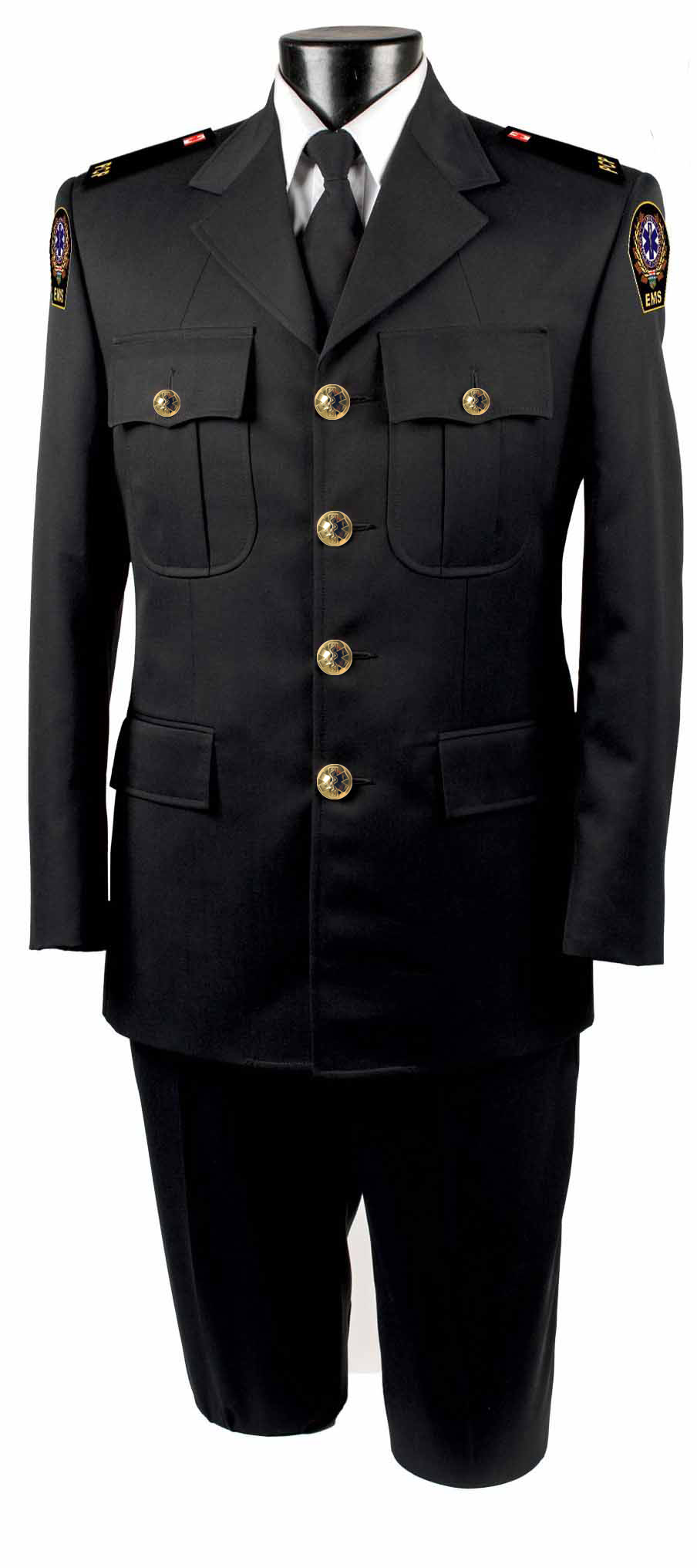 Male Four Button Single Breasted Tunic Jacket -Derks Uniforms
