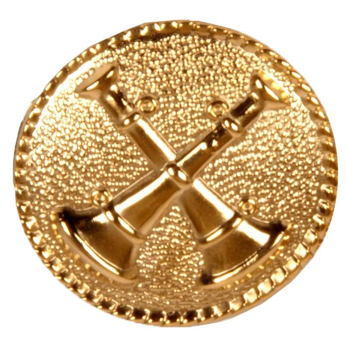 2 Cross Bugle Collar Dog Medallion-Derks Uniforms