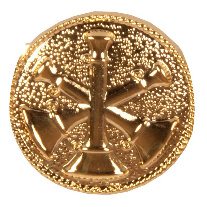 3 Cross Bugle Collar Dog Medallion-Derks Uniforms
