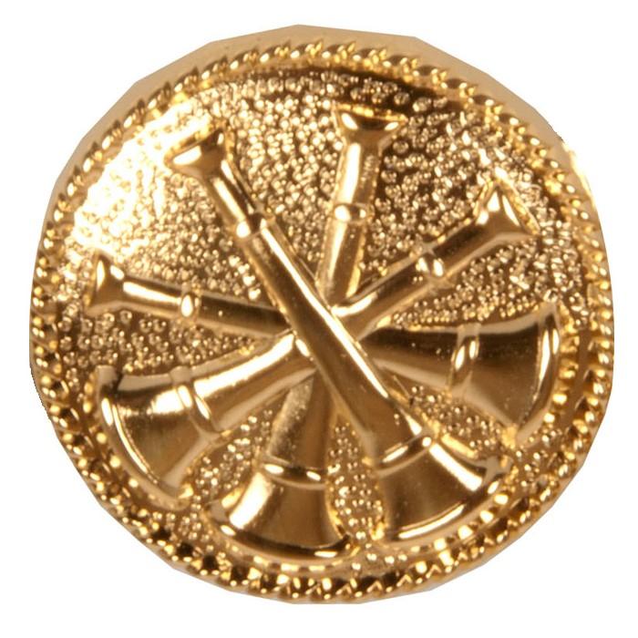 4 Cross Bugle Collar Dog Medallion-Derks Uniforms
