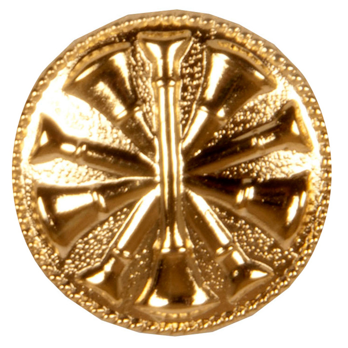 5 Cross Bugle Collar Dog Medallion-Derks Uniforms