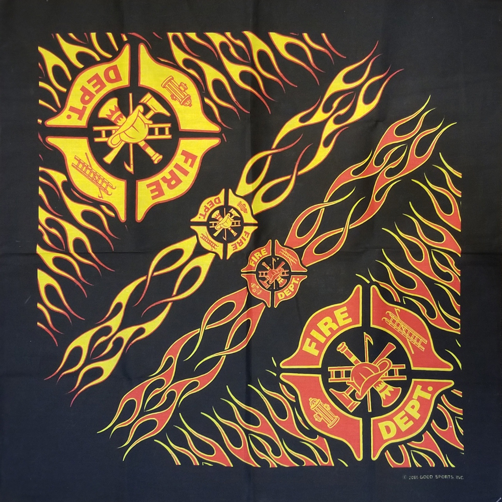 Fire Bandana-Derks Uniforms