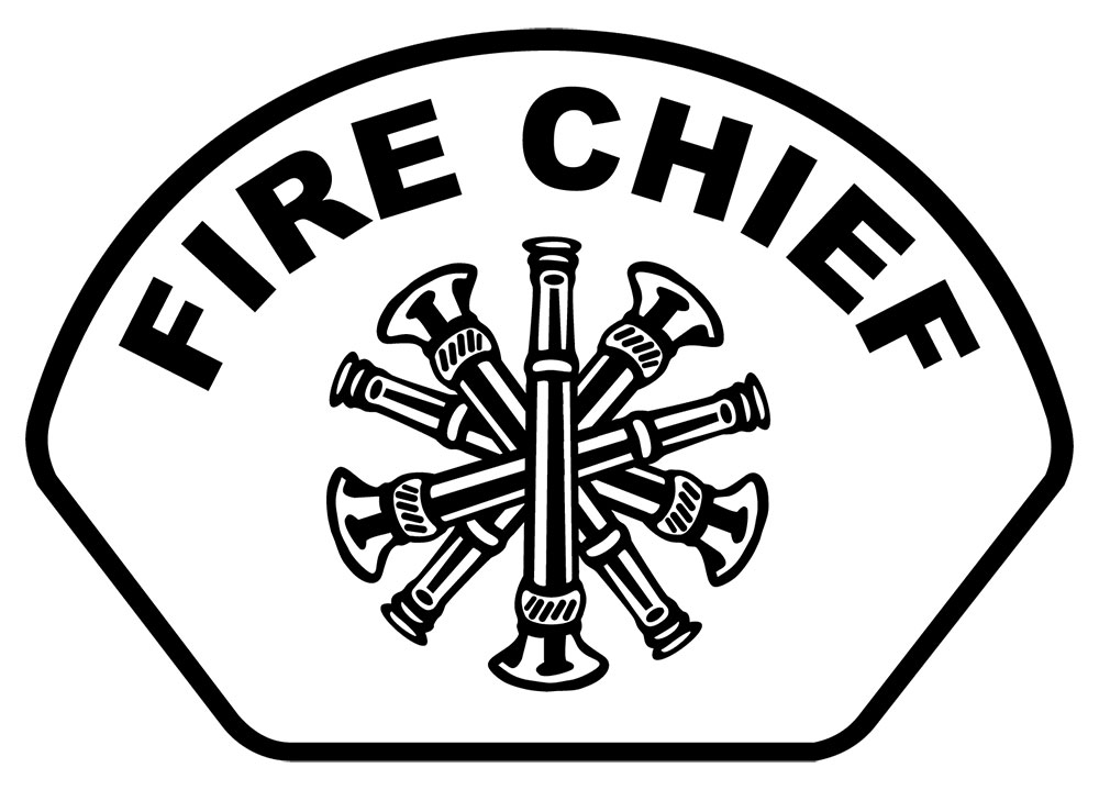 Fire Chief - Front Helmet Decal-Derks Uniforms